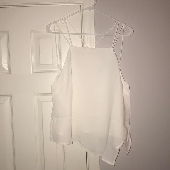 Tobi Tops - TOBI asymmetrical white top